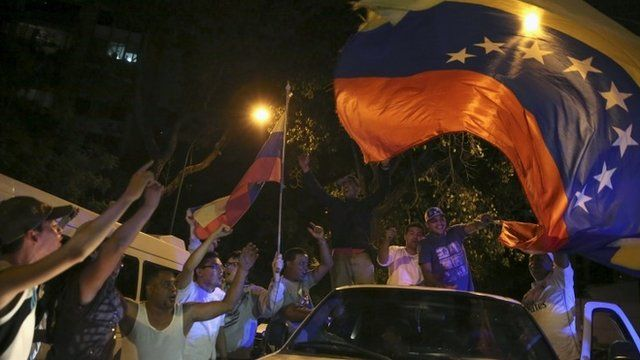 Opposition supporters in Venezuela