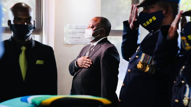 President Cyril Ramaphosa pays last tribute to the late Deputy Minister