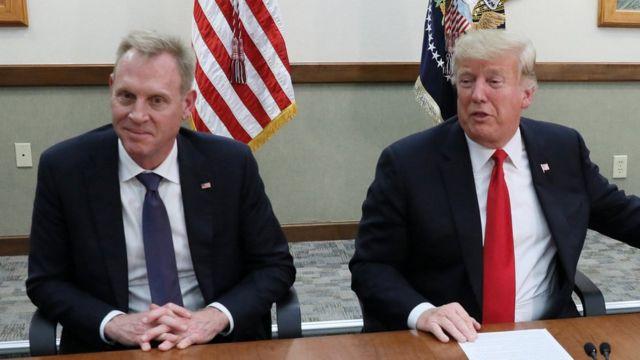 Патрик Шанахан и Дональд Трамп