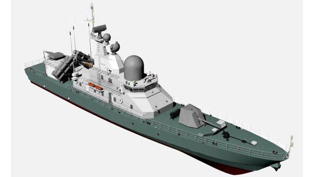 """Проект ракетного катера """"Лань"""", на якому планують розмістити протикорабельні ракети """"Нептун"""""""