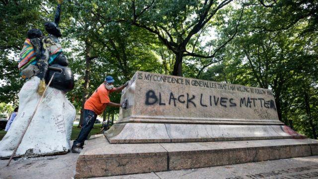 Снесенный памятник конфедератам