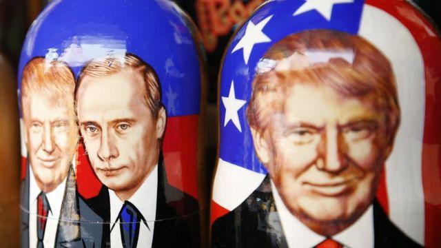 Putin y Trump en caricaturas