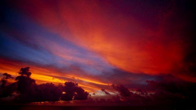 Закат на Кирибати