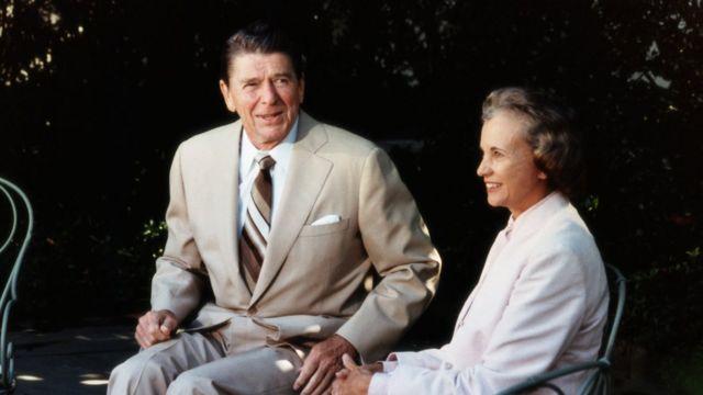 奧康納和里根在白宮
