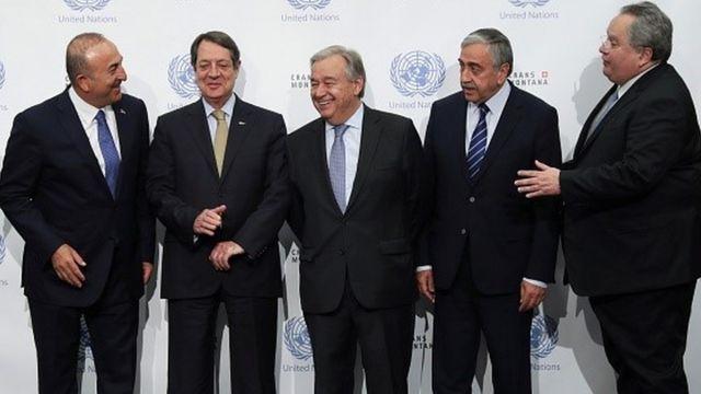 Το 2017, Κύπριοι ηγέτες και Τούρκοι και Έλληνες υπουργοί Εξωτερικών παρακολούθησαν τις συνομιλίες του ΟΗΕ.