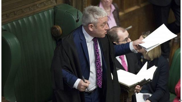Who is Commons Speaker John Bercow?
