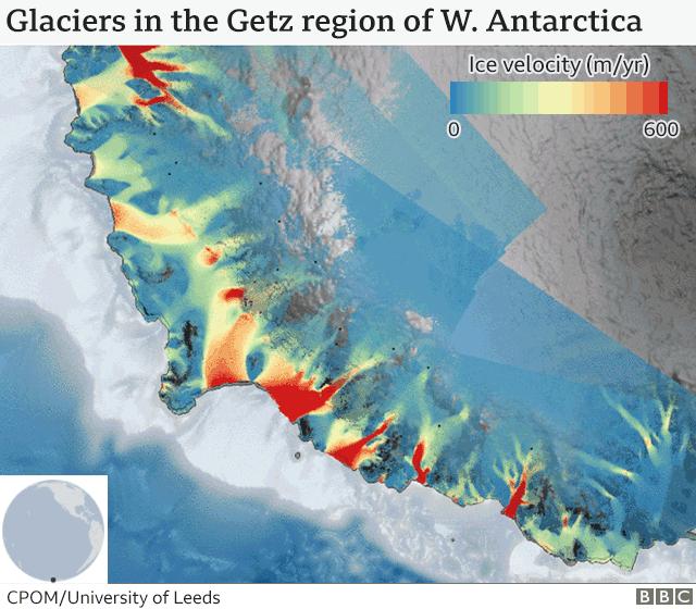 Glacier velocities