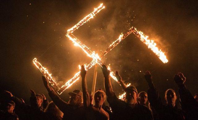 Una manifestación neonazi