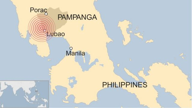 A map of the Philippines