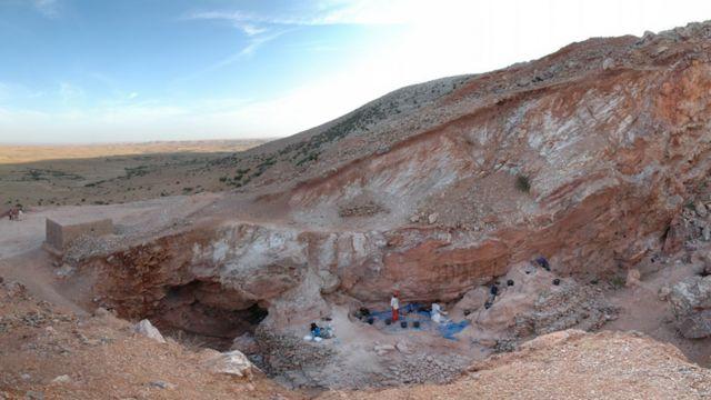 El sur de la excavación de Jebel Irhoud