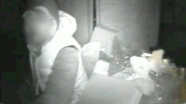 CCTV footage showing one homeless man inside a truck's compactor
