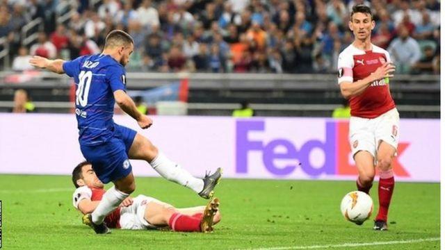 Eden Azara je bio najzaslužniji što je Čelsi pobedio Arsenal u finalu Lige Evrope