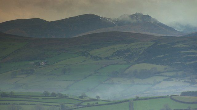 Hills and mountains in south Down