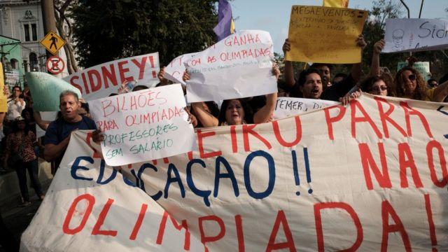 Protesta contra las Olimpiadas.