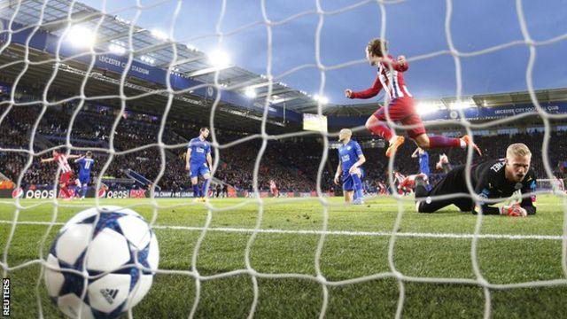 Saul Niguez scores for Atletico Madrid
