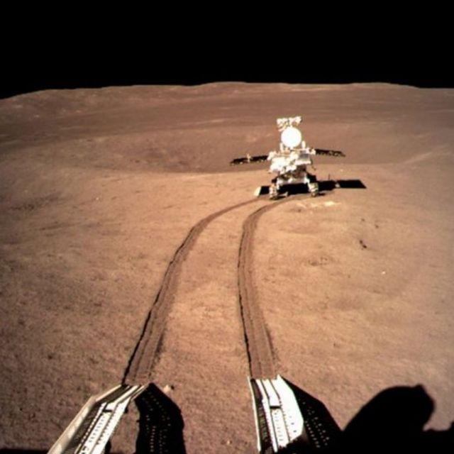El rover de la misión Chang'e-4 al otro lado de la luna