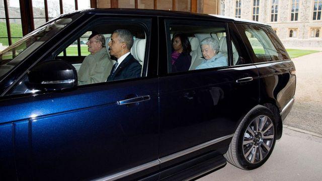 Prince Philip drove Obama to sit.