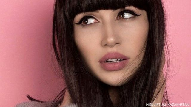Ilay Dyagilev como Arina Aliyeva. Foto: Miss Virtual Kazakhstan