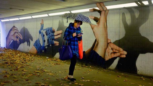 ग्लासगो के दीवारों पर बनी पेंटिग्स