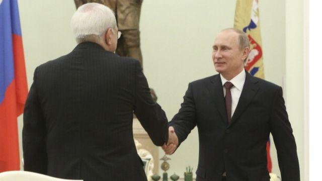 دیدار محمد جواد ظریف و ولادیمیر پوتین در مسکو در سال ۲۰۱۴