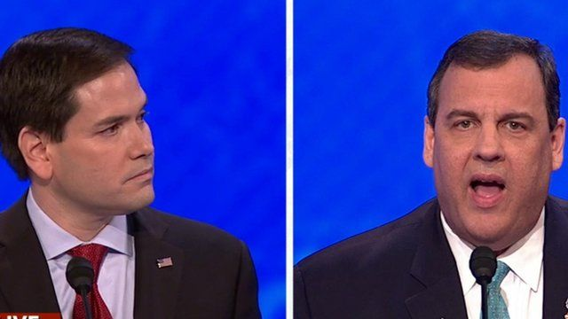 Marco Rubio and Chris Christie