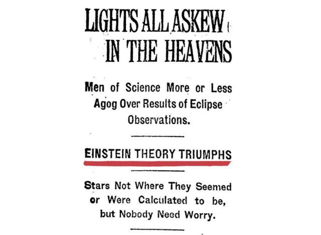 Artigo no New York Times em 1919