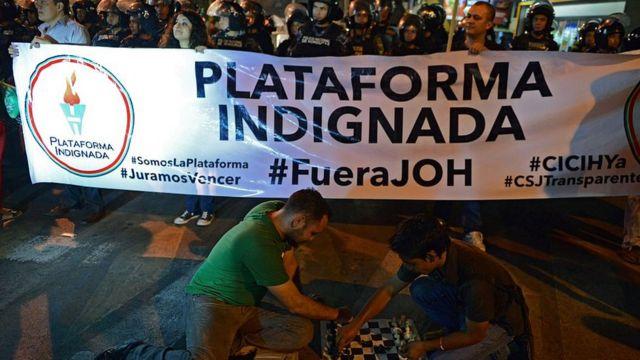 Protesta anticorrupción en Honduras
