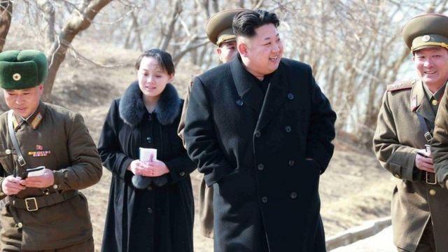 Kim Jong-un dan Kim Yo-jong