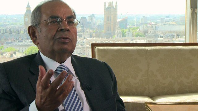 Gopichand Hinduja gives a rare interview to the BBC's Ben Thompson