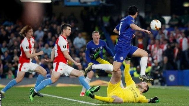 Olivier Giroud aliifungia Chelsea bao la tatu na lake la kumi katika michuano hiyo ya Europa League msimu huu (117) kabla ya Pedro kuongeza la nne (27).