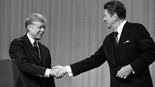 Jimmy Carter y Ronald Reagan