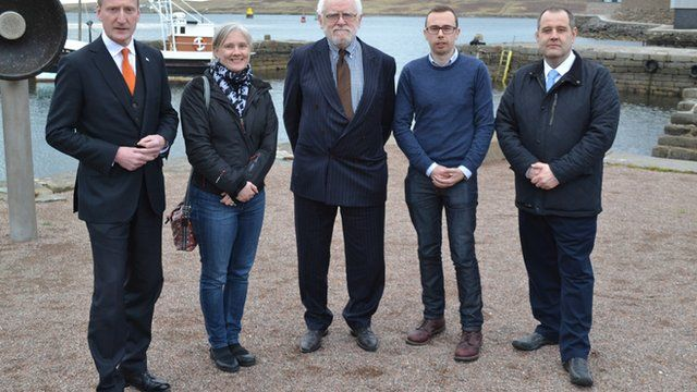 Panellists on the Shetland Islands hustings