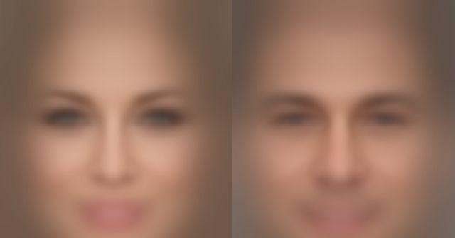 Rostro de un hombre y de una mujer difuminado