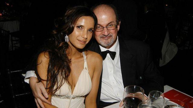 Salman Rushdie y Padma Lakshmi