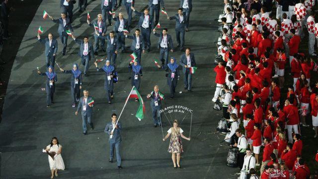 Equipo de atletas olímpicos de Irán en Londres 2012