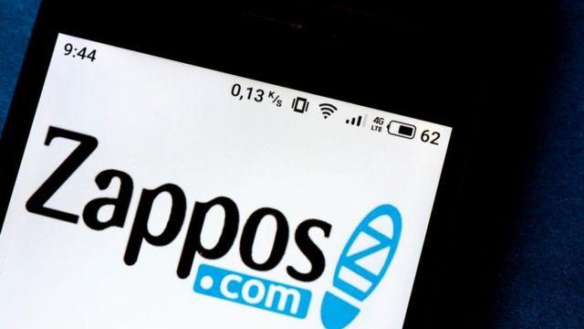 Logotipo de Zappos en el teléfono celular