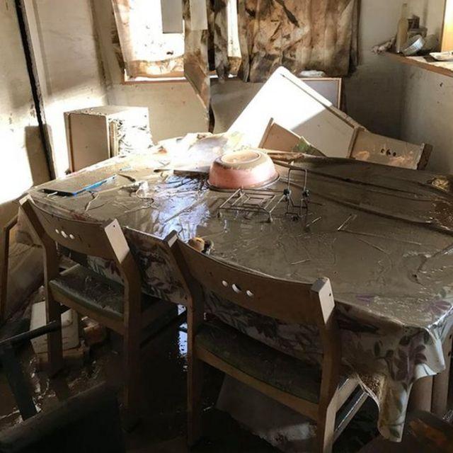 Casa Kendia após as enchentes