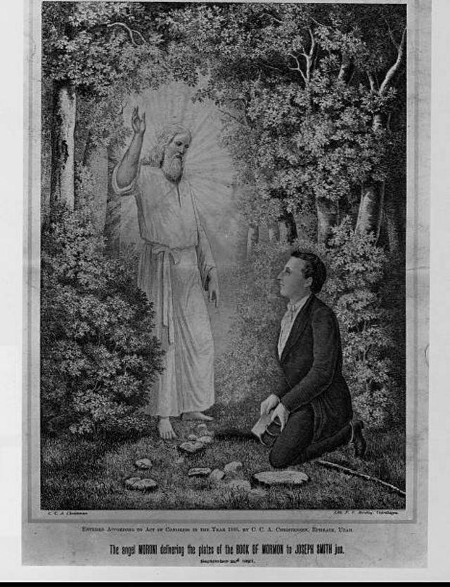 L'Ange Moroni porte une révélation à Joseph Smith
