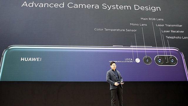 evento de lançamento da Huawei P20