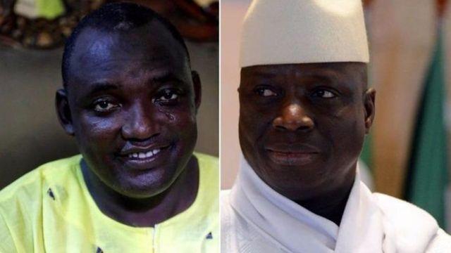 Ku misi wa kane ni ho bitegekanijwe ko Jammeh (i buryo) abisa ku butegetsi Barrow (i bubamfu) muri Gambia