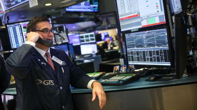 Bolsa de valores de Nueva York.
