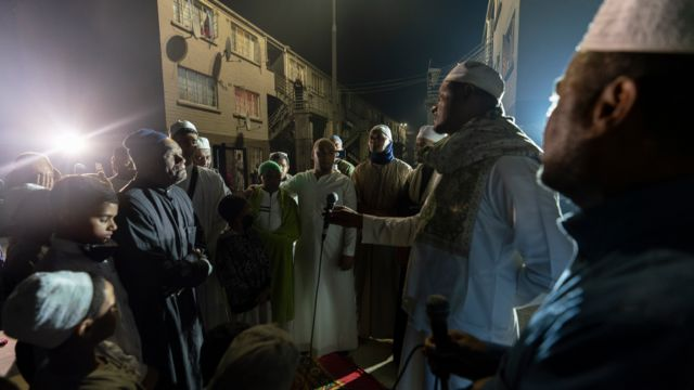 People gathered for dhikr in Manenberg, Cape Town - South Africa