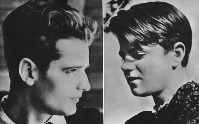 Hans Scholl (1918-1943, left) and his sister Sophie (1921-1943), around 1940