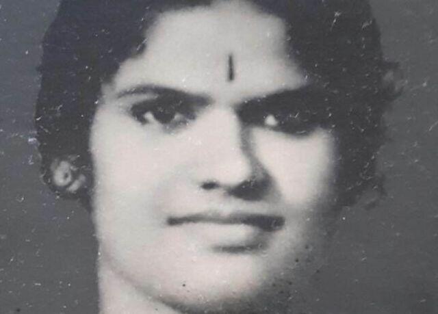 La abuela de Megha Mohan cuando era joven.
