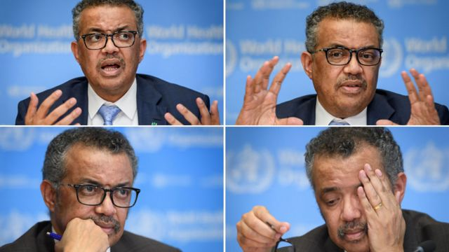 Composite of images of Dr Tedros