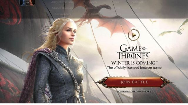 "Imagen del juego ""Game of Thrones: Winter Is Coming"""