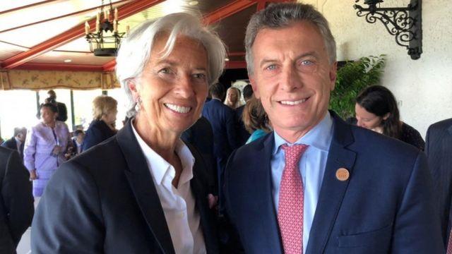 Christine Lagarde y Mauricio Macri el último junio en Canadá en la reunión el G7.