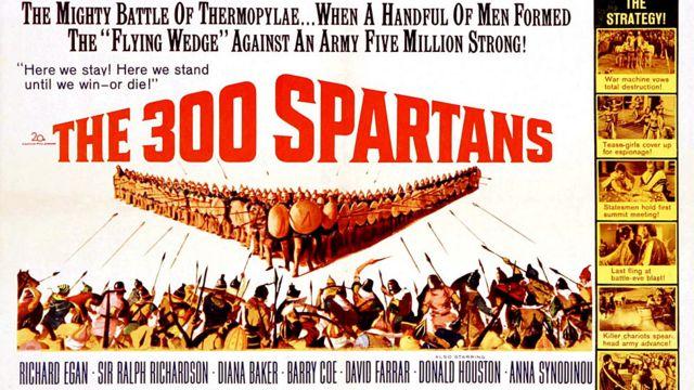 Cartel publicitario de una de las películas sobre la batalla de las Termópilas.