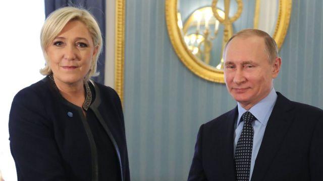 Марин Ле Пен, Владимир Путин, март 2017