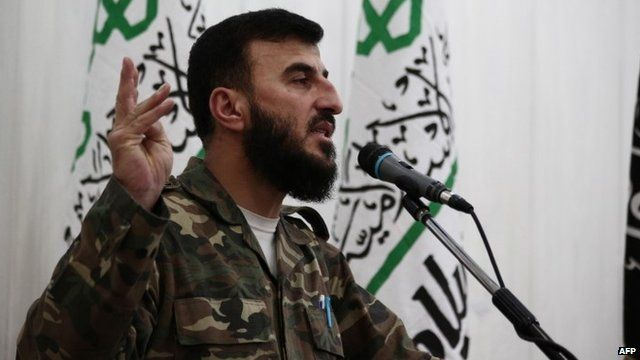 Zahran Alloush, the leader of Jaysh al-Islam